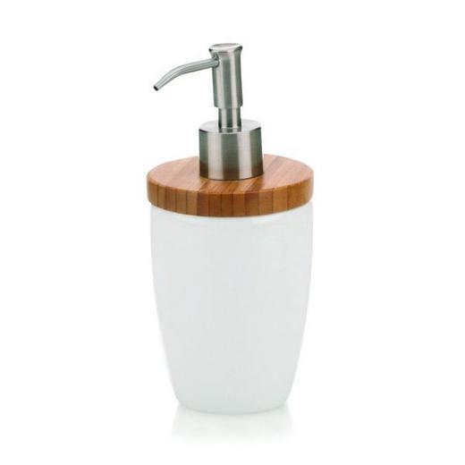 SEIFENSPENDER - Weiß, Basics, Holz/Keramik (8/17,5cm)