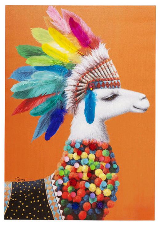 Tiere BILD - Multicolor, MODERN, Holz/Textil (70/100/3,5cm) - Kare-Design