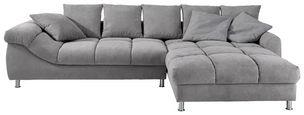 SEDACÍ SOUPRAVA, šedá, textil - šedá/barvy stříbra, Design, kov/textil (337/228cm) - Carryhome