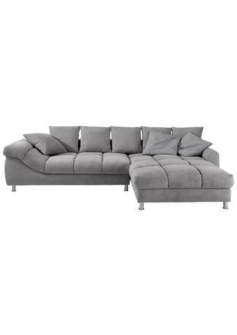 SJEDEĆA GARNITURA - siva/boje srebra, Design, tekstil/metal (337/228cm) - Hom`in