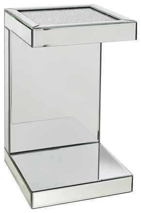 AVLASTNINGSBORD - silver, Design, glas/träbaserade material (30,5/50,5/30,5cm) - Xora