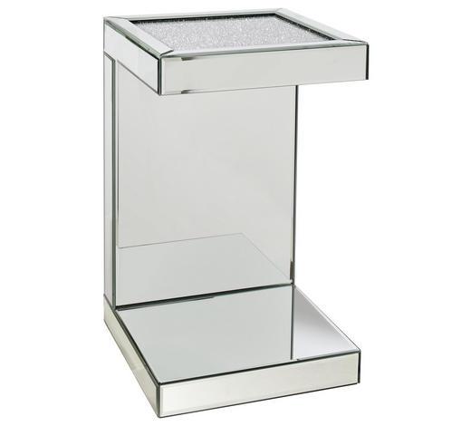 BEISTELLTISCH Silberfarben  - Silberfarben, Design, Glas (30,5/50,5/30,5cm) - Xora
