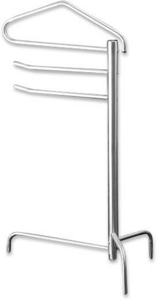 HERRENDIENER Edelstahlfarben - Edelstahlfarben, MODERN, Metall (35/100/56cm)
