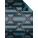 WOHNDECKE 150/200 cm Braun, Türkis  - Türkis/Braun, Design, Textil (150/200cm) - Novel