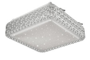 LED-TAKLAMPA - vit/silver, Lifestyle, plast (28/28/9cm) - Novel