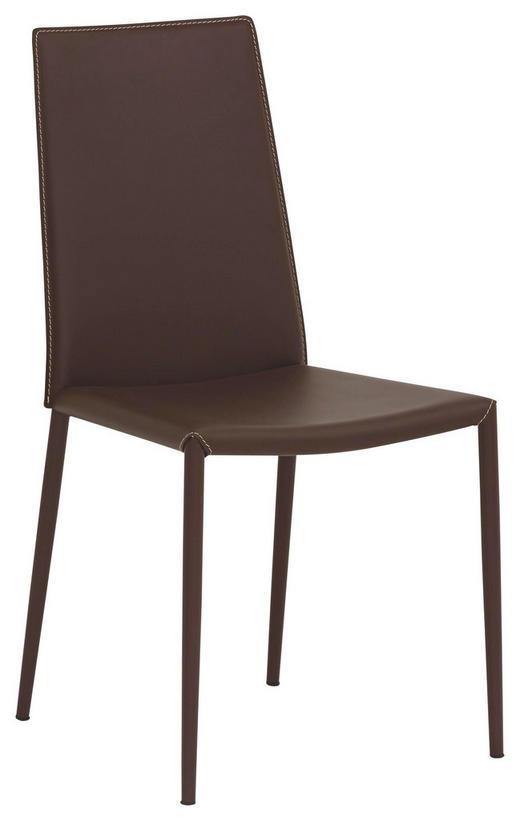 STUHL Kombination Echtleder/Lederlook Braun - Braun, Design, Leder/Metall (48/90/52cm)