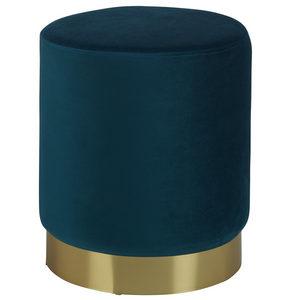 PALL - petrol/guldfärgad, Trend, metall/träbaserade material (35/40cm) - Xora