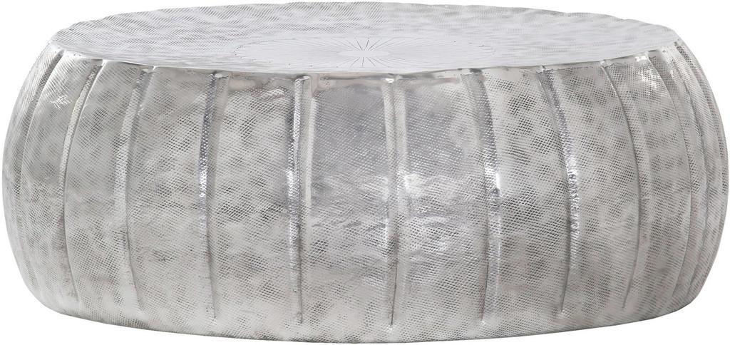CARRYHOME COUCHTISCH rund Silber