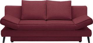SCHLAFSOFA Weinrot  - Weinrot/Schwarz, Design, Textil/Metall (200/85/90cm) - Xora