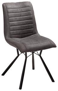 STOL - svart/antracit, Design, metall/textil (60/89/54cm) - Xora