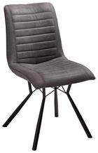ŽIDLE, kov, textil, antracitová, černá, - černá/antracitová, Design, kov/textil (60/89/54cm) - Xora