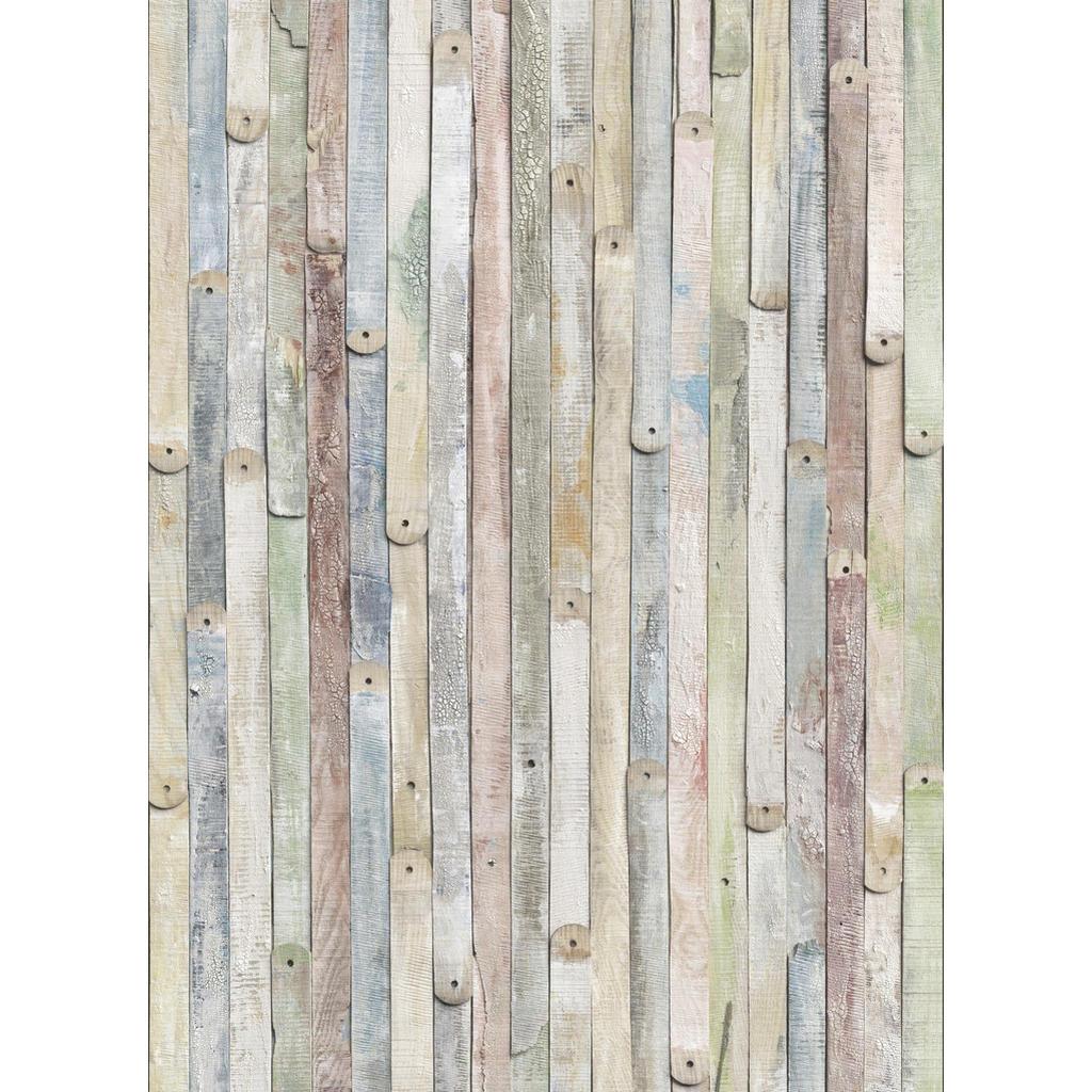 Komar Fototapete Vintage Wood , Grau, Natur , Papier , Holzoptik , 184x254 cm , Fsc, Made in Germany , Tapeten Shop, Fototapeten