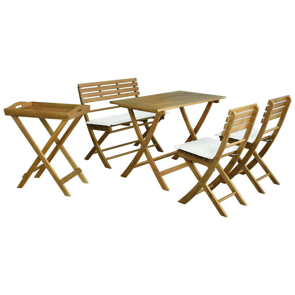Zusammenklappbares Garten-Set aus Akazienholz