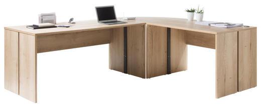 SCHREIBTISCHKOMBINATION - Eichefarben, Design, Holzwerkstoff (241/200/75/80cm) - Xora