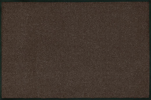 FUßMATTE 120/180 cm Uni Dunkelbraun - Dunkelbraun, Basics, Kunststoff/Textil (120/180cm) - Esposa