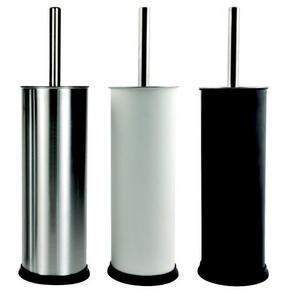 TOALETTBORSTSET - vit/alufärgad, metall/plast