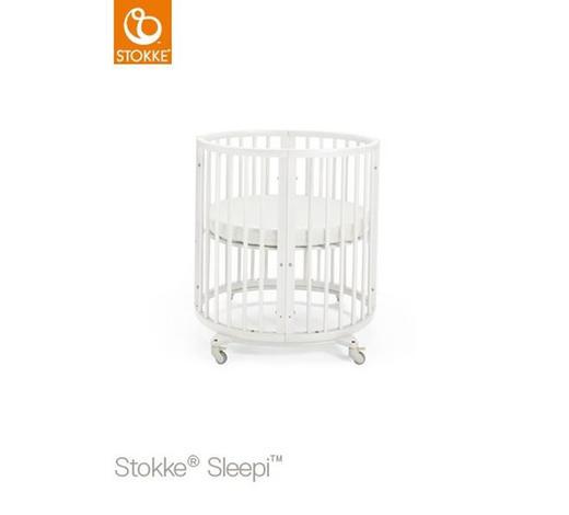 GITTERBETT Sleepi - Weiß, Design, Holz (67/87/82cm) - Stokke