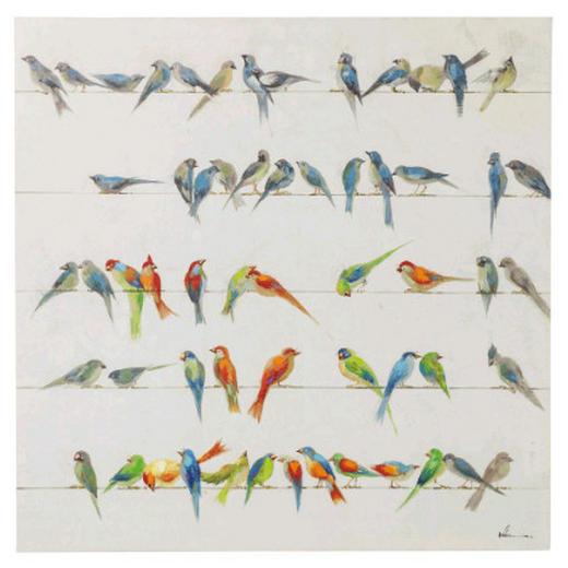 Tiere BILD - Multicolor, MODERN, Holz/Textil (100/100/3,5cm) - Kare-Design