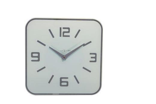 WANDUHR  Weiß - Weiß, Basics, Glas (43/43/1cm)