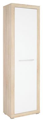 ORMAR GARDEROBNI - bijela/boje hrasta, Design, drvni materijal/plastika (58/198/36cm) - Boxxx