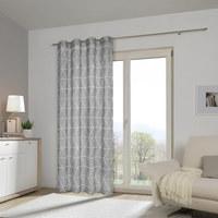 ÖSENVORHANG halbtransparent - Grau, KONVENTIONELL, Textil (135/245cm) - ESPOSA