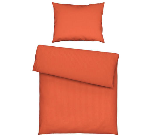 BETTWÄSCHE 140/200 cm - Orange, Basics, Textil (140/200cm) - Novel