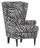 FOTELJA - tamno smeđa/bijela, Design, tekstil/drvo (72/49/104/85cm) - HOM IN