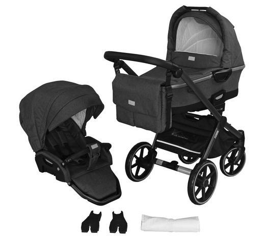 Kinderwagenset Future  - Anthrazit/Grau, Design, Kunststoff/Textil (57/104/79cm) - Jimmylee