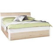 BETT 180 cm   x 200 cm   in Holz Buchefarben, Weiß - Buchefarben/Weiß, Design, Holz/Holzwerkstoff (180/200cm) - TI`ME