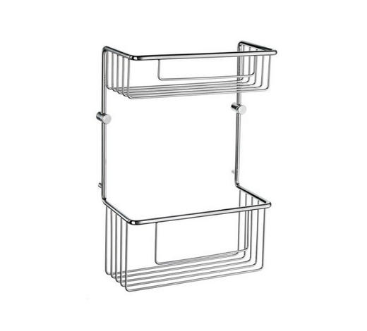 SEIFENKORB Metall  - Chromfarben, Basics, Metall (21,5/32/11cm)