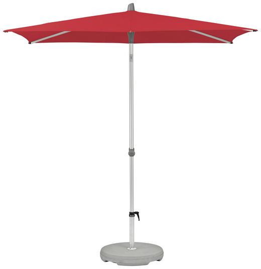 SONNENSCHIRM 210x150 cm Rot - Rot/Silberfarben, KONVENTIONELL, Textil/Metall (210/150cm) - Glatz