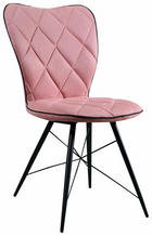 STOL, kovina, tekstil roza - roza/črna, Design, kovina/tekstil (49/90/61cm) - Hom`in