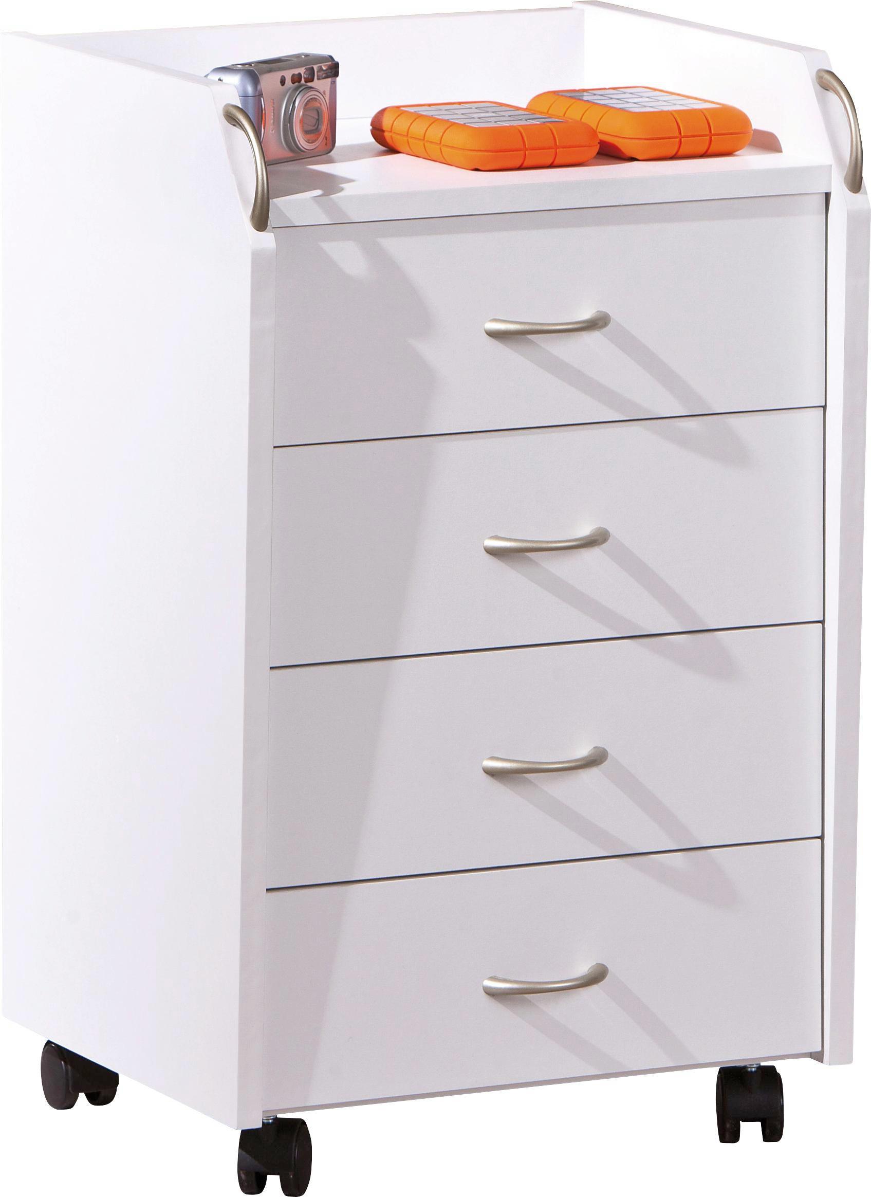 Astounding Rollcontainer Kunststoff Beste Wahl Weiß - Silberfarben/weiß, Konventionell, (40/65/36cm
