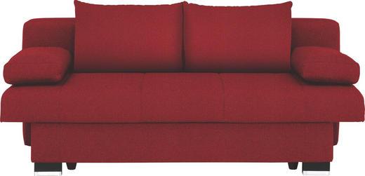 SCHLAFSOFA Rot - Wengefarben/Rot, KONVENTIONELL, Holz/Textil (200/80/104cm) - NOVEL