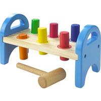 Hammerbank - Multicolor, Natur, Holz (21/11,8/9,5cm) - My Baby Lou