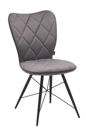 STOL - grå/svart, Design, metall/textil (49/90/61cm) - Hom`in