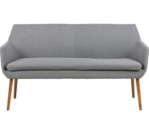 SOFA in Textil Hellgrau  - Eichefarben/Hellgrau, KONVENTIONELL, Holz/Textil (159/86/56cm) - Carryhome