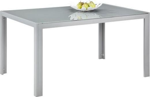 GARTENTISCH Glas, Metall Grau, Silberfarben - Silberfarben/Grau, Design, Glas/Metall (140/90/72cm) - Xora