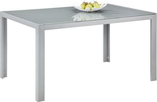 VRTNA MIZA kovina, steklo siva, srebrna - siva/srebrna, Design, kovina/steklo (140/90/72cm) - Ambia Garden