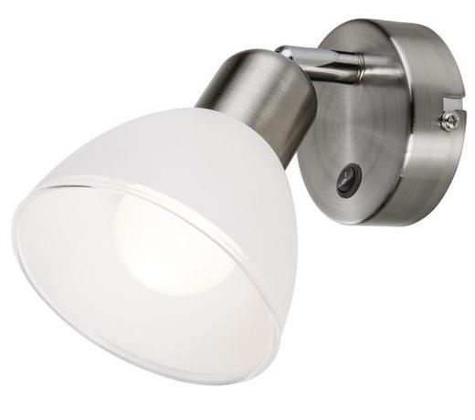 LED-STRAHLER - Weiß/Nickelfarben, Design, Glas/Metall (10cm) - Novel
