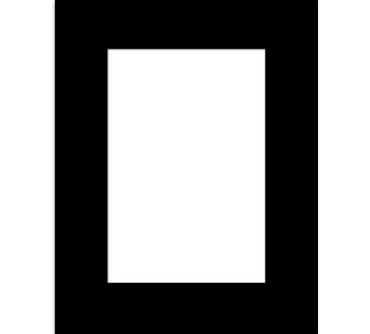PASPARTA - černá, Design, papír (40/50/0.2cm)