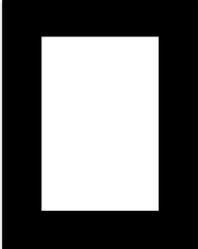 PASSEPARTOUT in Schwarz - Schwarz, Design, Papier (21/30/0.2cm)