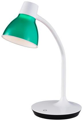 LED-SKRIVBORDSLAMPA - vit/grön, Trend, metall/plast (45cm) - Boxxx