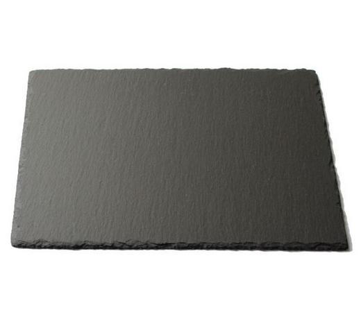 PLATZTELLER 20/30 cm - Schieferfarben, KONVENTIONELL, Kunststoff/Stein (20/30cm) - Ambia Home