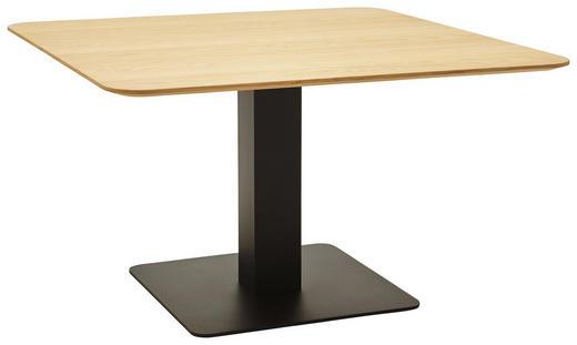 ESSTISCH in Holz, Holzwerkstoff, Metall - Eichefarben/Schwarz, Design, Holz/Holzwerkstoff (110/110/75cm) - Dieter Knoll