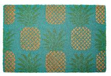 FUßMATTE 40/60 cm Obst Blau, Grün, Goldfarben  - Blau/Goldfarben, Trend, Kunststoff/Textil (40/60cm) - Esposa