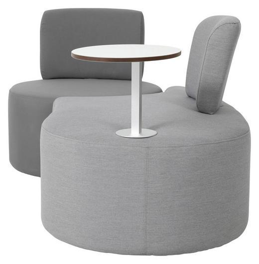 LOUNGESOFA Stahl - Dunkelgrau/Hellgrau, Design, Textil/Metall (160/70/70cm) - AMBIA GARDEN