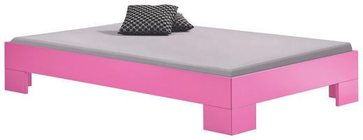 BETT 120/200 cm - Violett, Design, Holzwerkstoff (120/200cm) - Xora