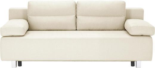 SCHLAFSOFA Webstoff Beige - Beige/Alufarben, Design, Kunststoff/Textil (204/70/80/94cm) - Carryhome