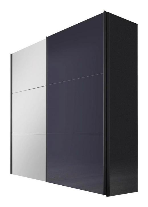 SCHWEBETÜRENSCHRANK 2  -türig Graphitfarben - Graphitfarben, Design, Glas/Holzwerkstoff (200/236/68cm) - Hom`in